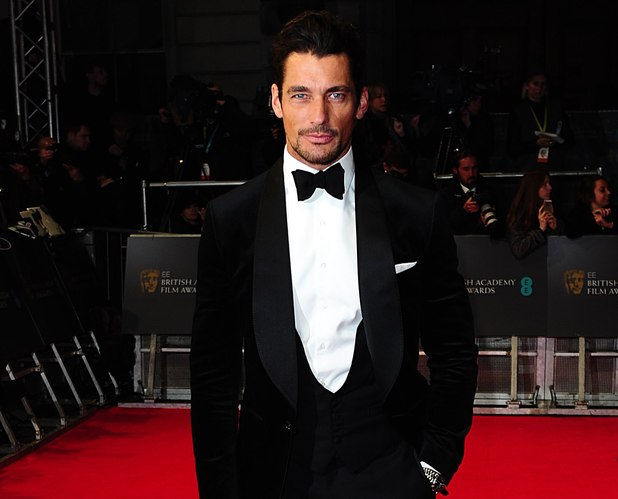 David Gandy, BAFTA 2014, Red Carpet