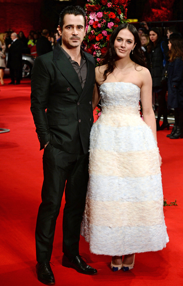 Photo de Jessica Brown Findlay & son ami  Colin Farrell