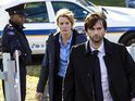 The first production still from Fox's remake Gracepoint appears online.