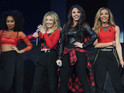 The girl group fell victim to a falling prop during rehearsals for their shows.
