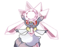 Diancie is a Rock- and Fairy-type Pokemon that can't be found in the main game.