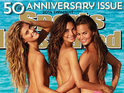 Max George's ex Nina Agdal appears topless on the 2014 Swimsuit edition.