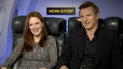 'Non-Stop' stars Liam Neeson, Julianne Moore and Michelle Dockery chat to Digital Spy about the mile-high whodunnit.