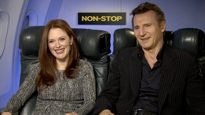 Liam Neeson, Julianne Moore, Michelle Dockery 'Non-Stop' interview