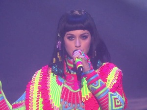 Katy Perry performs 'Dark Horse' at Brit Awards 2014.