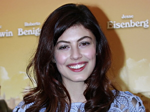 Alessandra Mastronardi at a press call to promote Woody Allen's To Rome with Love