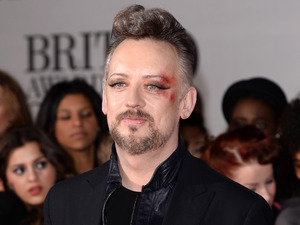 Boy George arriving for the 2014 Brit Awards at the O2 Arena, London.