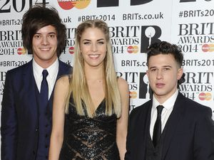 London Grammar arriving for the 2014 Brit Awards at the O2 Arena, London.