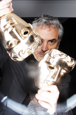 EE British Academy Film Awards, Selfie Booth, Royal Opera House, London, Britain - 16 Feb 2014 Alfonso Cuaron