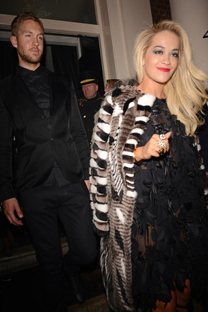 The BRIT Awards 2014 Warner Music Group After Party, London, Britain - 19 Feb 2014 Rita Ora and Calvin Harris