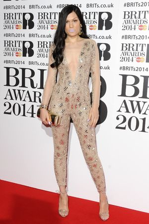 Jessie J arriving for the 2014 Brit Awards at the O2 Arena, London.
