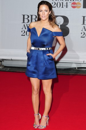 Caroline Flack arriving for the 2014 Brit Awards at the O2 Arena, London.