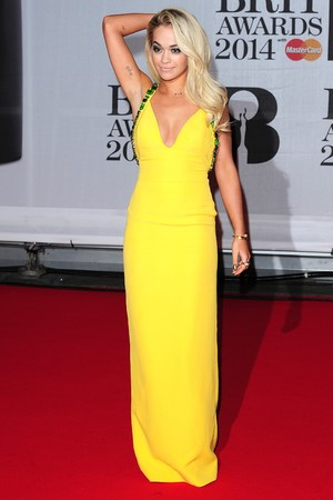 Rita Ora arriving for the 2014 Brit Awards at the O2 Arena, London.