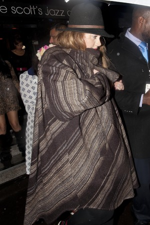 Adele leaving Ronnie Scott's after watching Prince perform