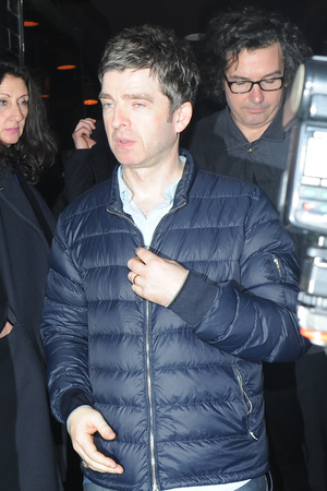 Noel Gallagher leaving Ronnie Scott's after watching Prince perform