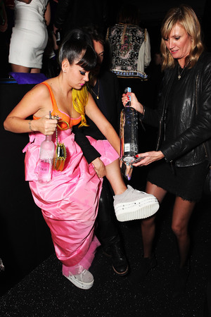 Lily Allen at the Warner Music Group And Belvedere Brit Awards After Party at The Savoy Hotel