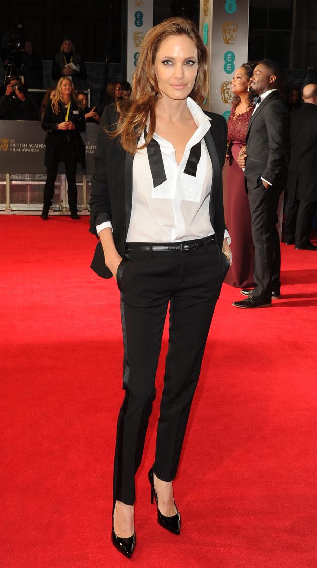 EE British Academy Film Awards, Arrivals, Royal Opera House, London, Britain - 16 Feb 2014 Angelina Jolie 16 Feb 2014
