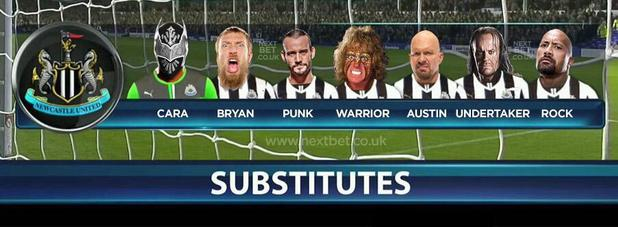 WWE Superstars as Newcastle United subs
