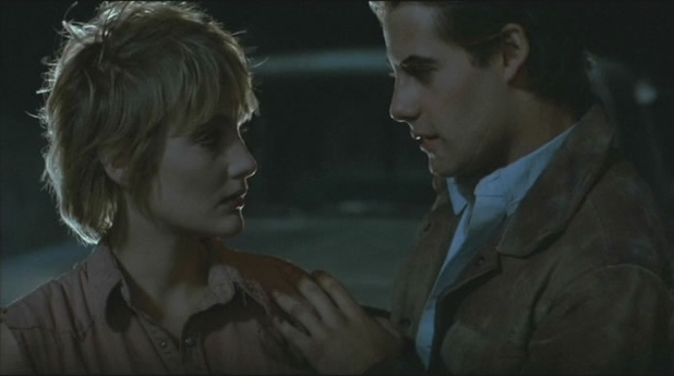 Mae (Jenny Wright) and Caleb (Adrian Pasdar) in Near Dark