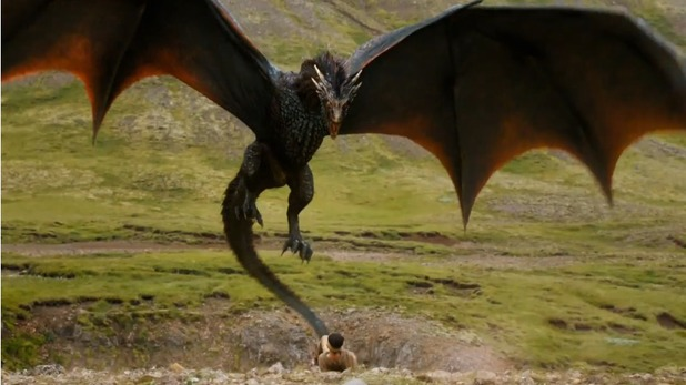 Game of Thrones: Season 4 - Drogon (Daenerys's dragon)