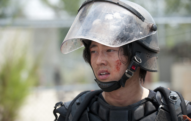 Glenn (Steven Yeun) in The Walking Dead season 4 episode 10: 'Inmates'