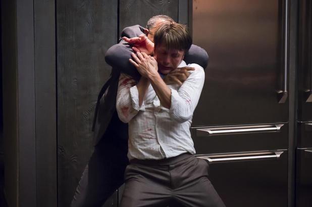 Mads Mikkelsen & Laurence Fishburne in Hannibal Season 2 Episode 1: 'Kaiseki'