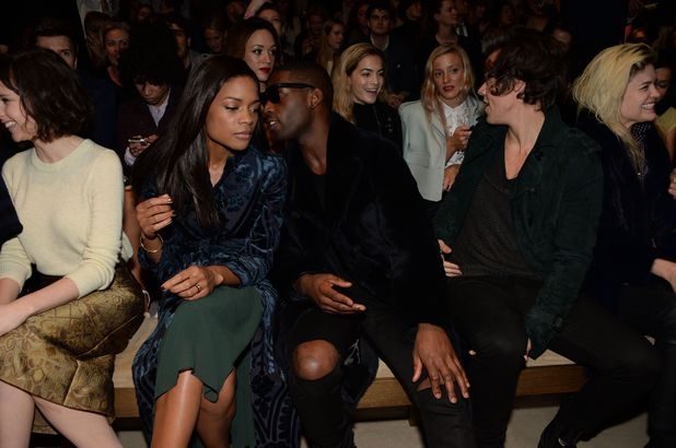 Burberry Prorsum Show, Autumn Winter 2014, London Fashion Week, Britain - 17 Feb 2014 Naomie Harris, Tinie Tempah and Harry Styles 17 Feb 2014