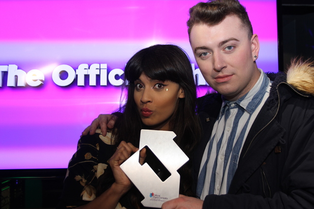 Sam Smith receives his Official Number 1 Award on the BBC Radio 1 Official Chart Show