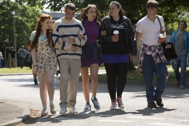 Some of the stars of My Mad Fat Diary