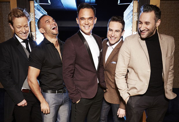 5th Story - Adam Rickitt, Kenzie, Gareth Gates, Kavana and Dane Bowers - on The Big Reunion