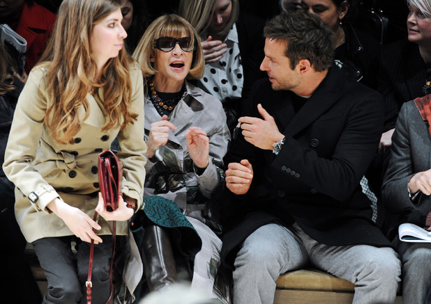 Burberry Prorsum show, Autumn Winter 2014, London Fashion Week, Britain - 17 Feb 2014 Anna Wintour and Bradley Cooper 17 Feb 2014