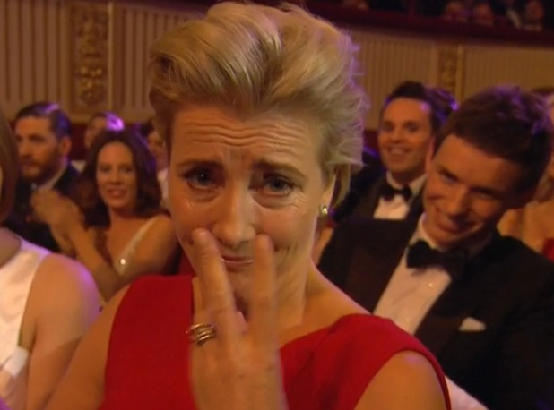 Emma Thompson swears at the BAFTAs
