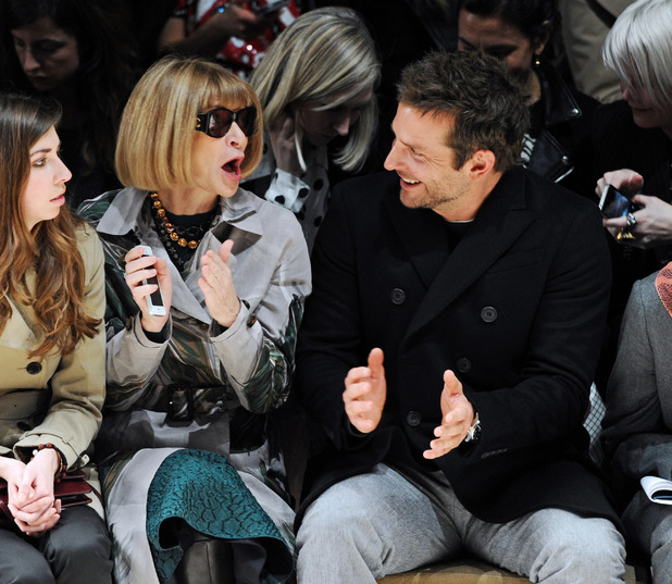 Burberry Prorsum show, Autumn Winter 2014, London Fashion Week, Britain - 17 Feb 2014Anna Wintour and Bradley Cooper 17 Feb 2014