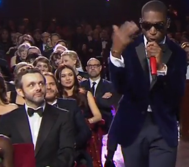Martin Sheen watches Tinie Tempah at the BAFTAs
