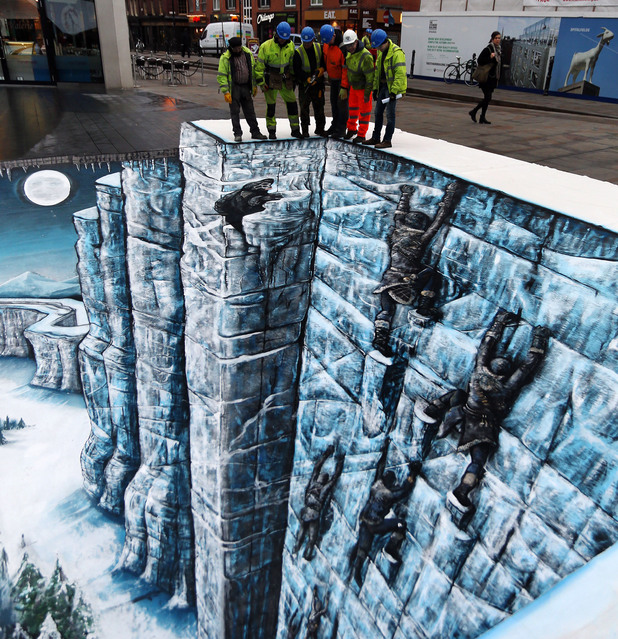 The Game of Thrones Wall is replicated in London