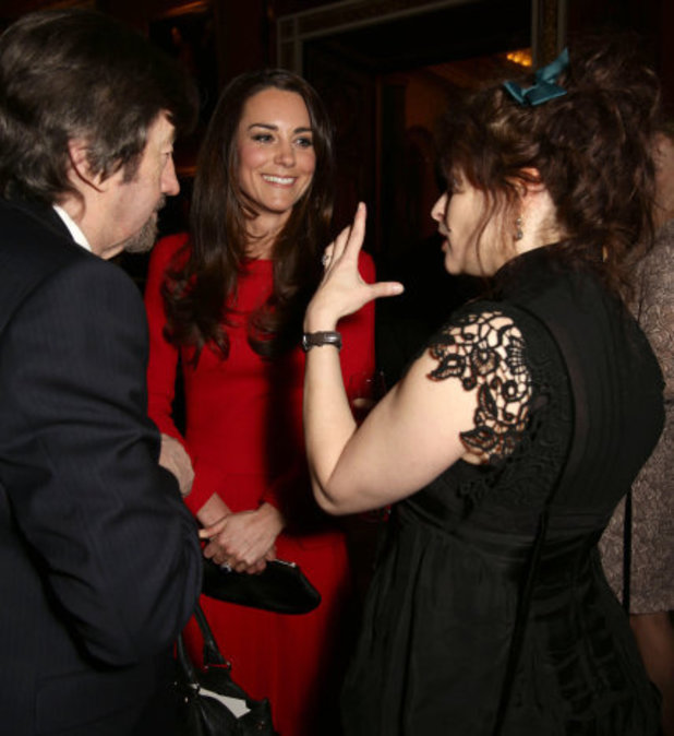Kate Middleton and Helena Bonham Carter