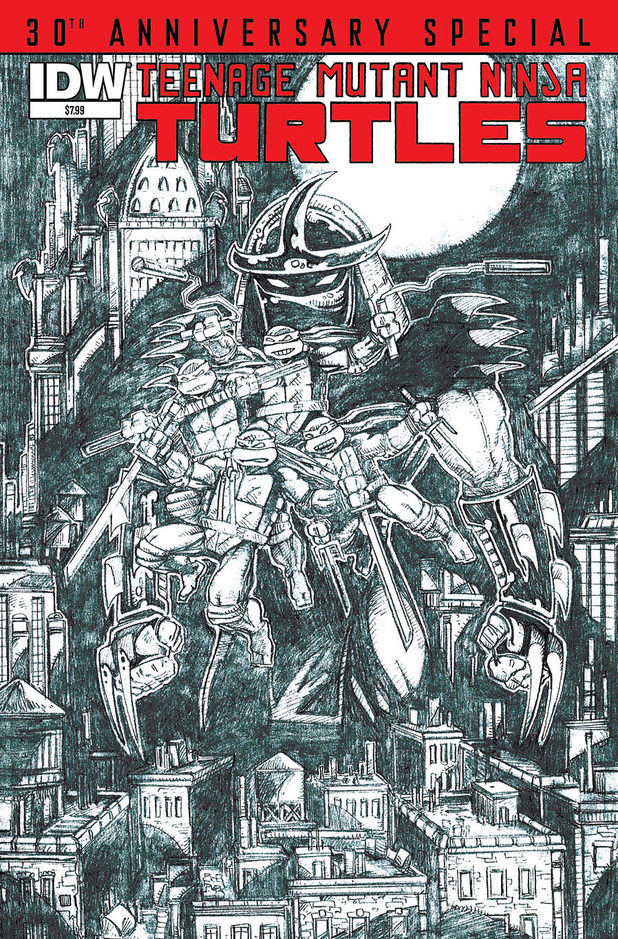 Eastman and Laird Teenage Mutant Ninja Turtles cover