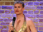 David Coulthard dons gold dress for charity