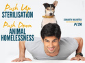 The actor appears on a poster that urges the public to sterilise their pets.
