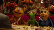 Ricky Gervais makes the Muppets an offer they can't refuse in the first clip from Muppets Most Wanted.