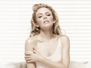 Kylie Minogue 'Kiss Me Once' press shot.