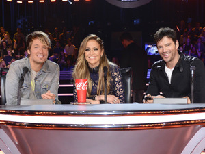 Jennifer Lopez, Harry Connick Jr and Keith Urban