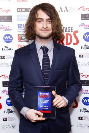 WhatsOnStage Awards, London, Britain - 23 Feb 2014 Daniel Radcliffe, Rupert Grint 23 Feb 2014