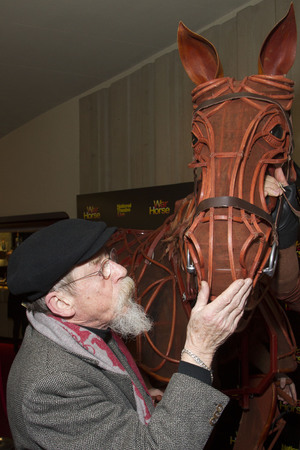 'War Horse' NT Live Gala performance at the New London Theatre, London, Britain - 27 Feb 2014 John Hurt with Joey