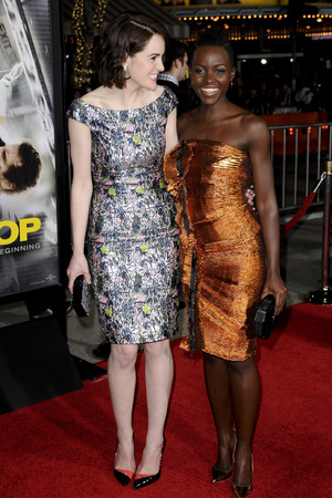 'Non-Stop' film premiere, Los Angeles, America - 24 Feb 2014 Lupita Nyong'o, Michelle Dockery
