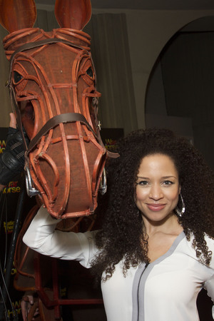 'War Horse' NT Live Gala performance at the New London Theatre, London, Britain - 27 Feb 2014 Natalie Gumede with Joey