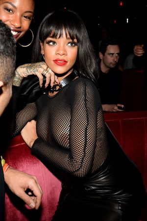 Balmain show after party, Paris Fashion Week, France - 27 Feb 2014 Rihanna
