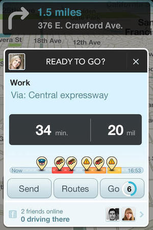 Waze mobile app for iOS