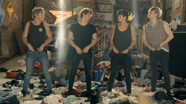 5 Seconds Of Summer 'She's Looks So Perfect' music video still.