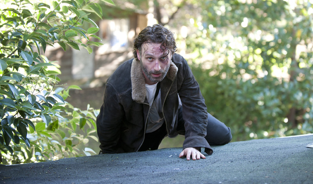 Andrew Lincoln as Rick Grimes in The Walking Dead season 4 episode 11: 'Claimed'